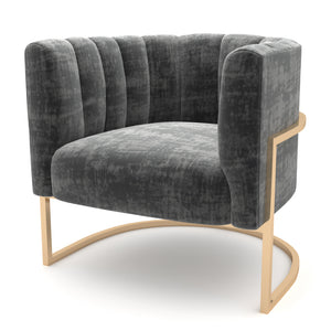 Wilfork Gray-Gold Chair