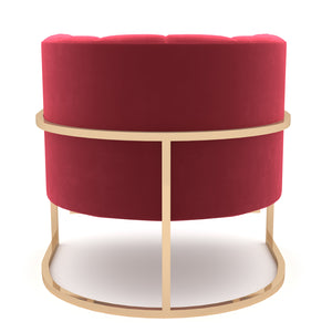 Wilfork Red-Gold Chair
