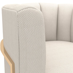 Wilfork Cream Fabric Chair