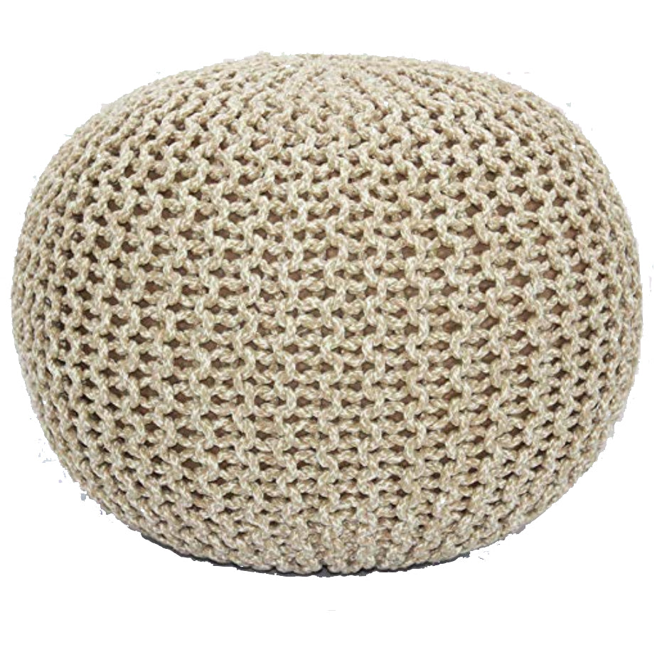 Kassidy Natural Pouf