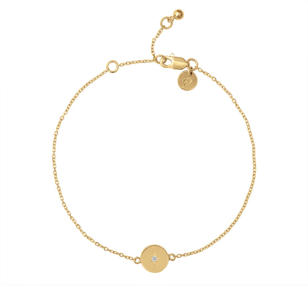 GOLD GUARDIAN PENDANT BRACELET