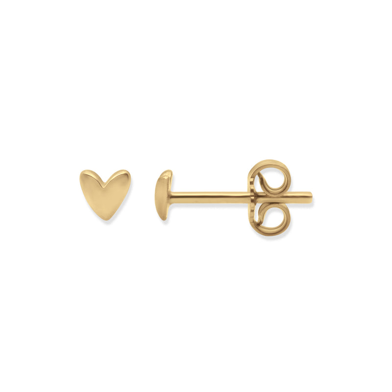 Gold Oh My Heart Stud