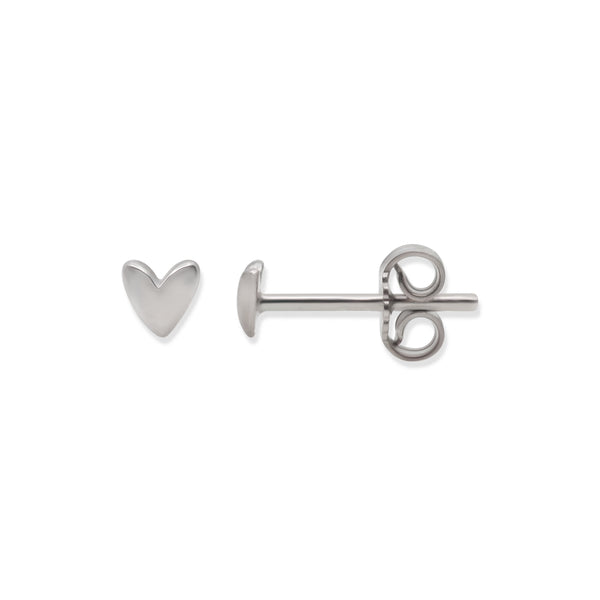 Silver Oh My Heart Stud