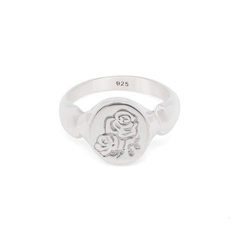 Sami Rose Signet Ring: Silver
