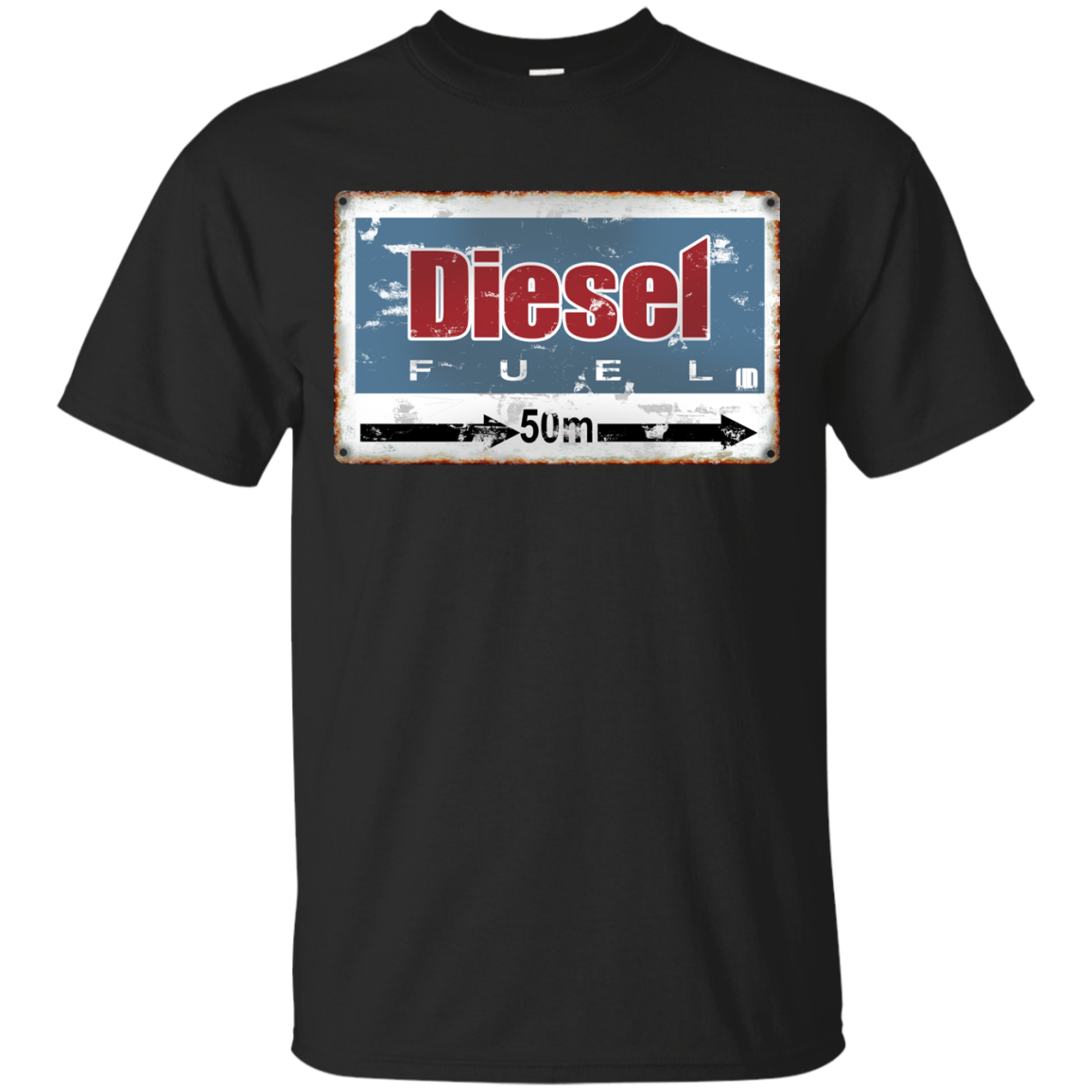 Vintage Fuel Road Sign T-Shirt