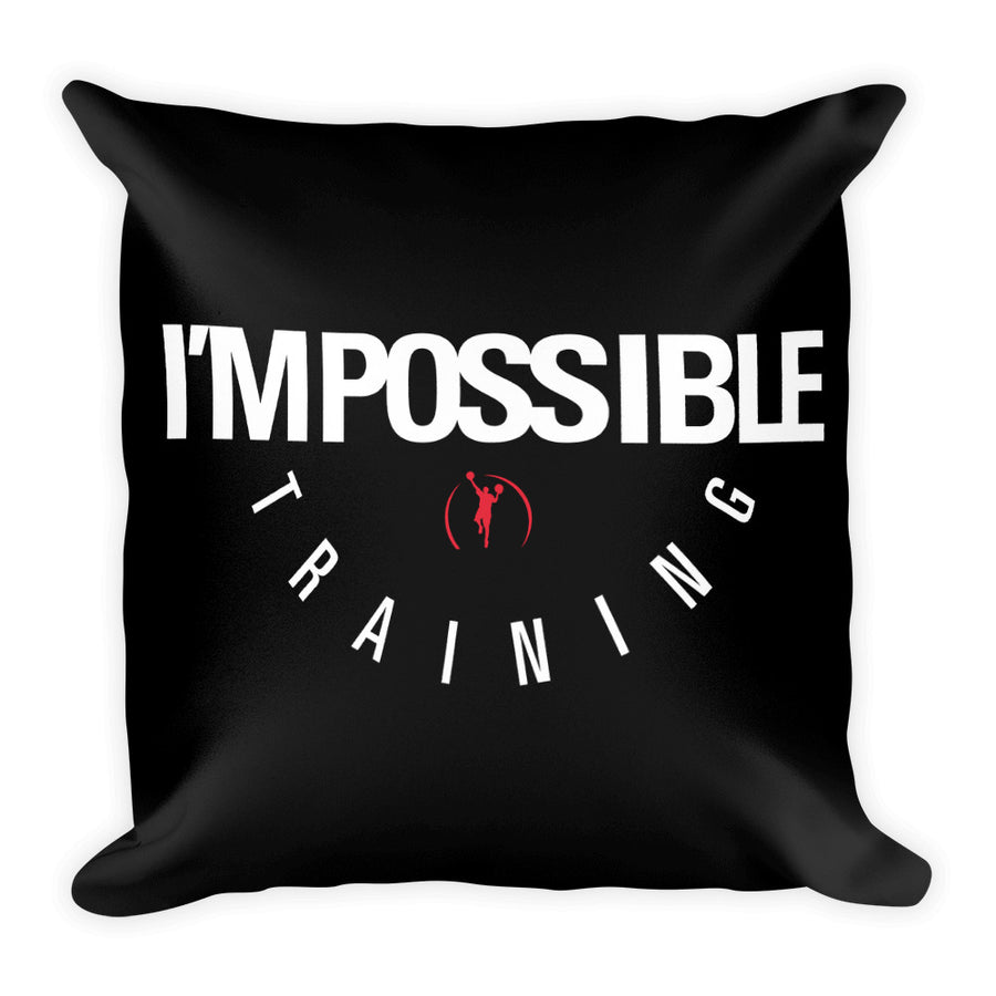 IMPOSSIBLE TRAINING White & Red Basic Pillow