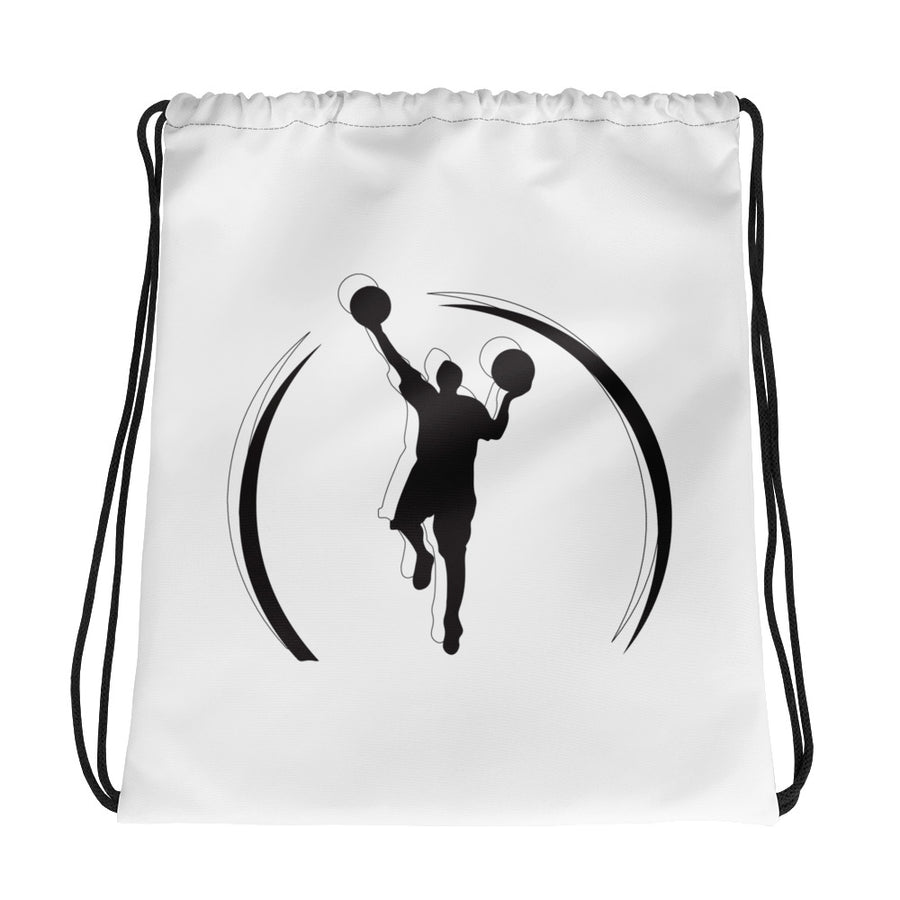 Double Logo Drawstring bag