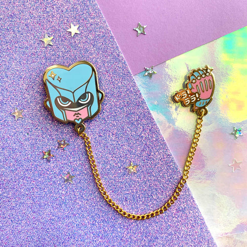 ☆ JJBA - Crazy Diamond Collar Pin ☆