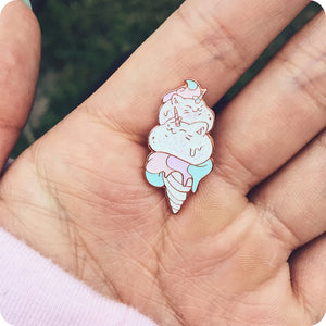 Kitty Cone Pin