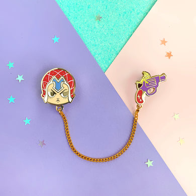 ☆ JJBA - Guido Mista Collar Pin ☆