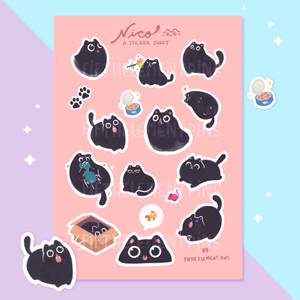 Nico Sticker Sheet