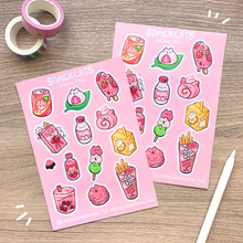 Load image into Gallery viewer, Snack Cats Sticker Sheet