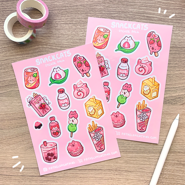Snack Cats Sticker Sheet
