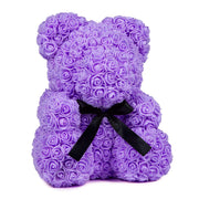 Purple LOVE Rose Bear