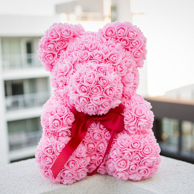 Pink LOVE Rose Bear