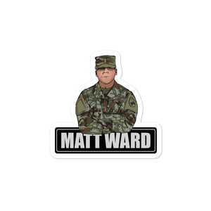 Matt Ward Bubble-free sticker