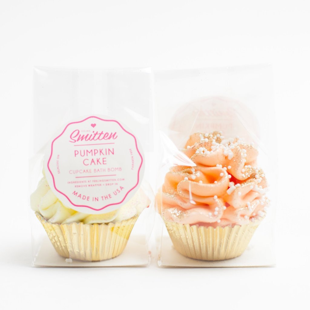 Mini Pumpkin Cake Cupcake Bath Bomb
