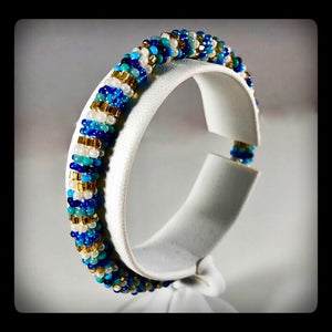 Handmade Bead Roll-on Bracelet - Adult 7""