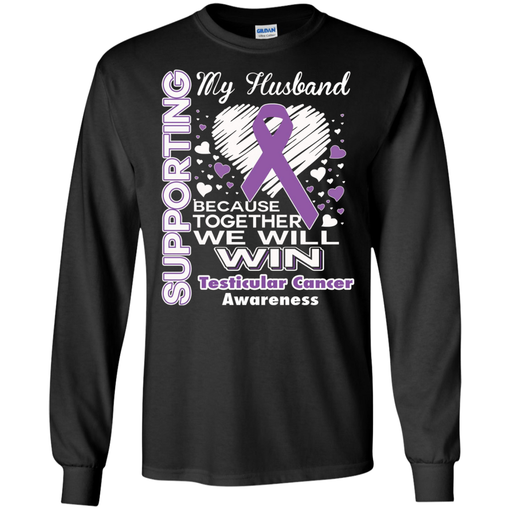 0a7305c2f Supporting My Husband Testicular Cancer Awareness Apparel – Mintozy