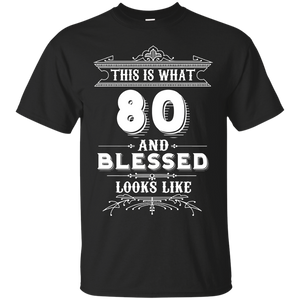 Funny For 80 Year Old Man Woman Happy Birthday Gifts Apparel
