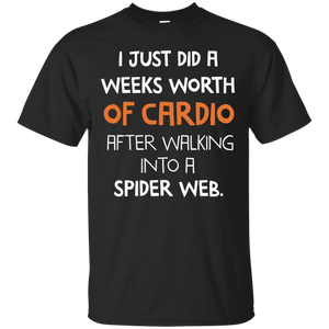 d7d40b78 Cardio After Walking Into Spider Web   Workout Apparel