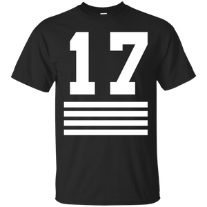 ab3867e9cfd5 17 Sports Jersey Number T-Shirt for Team Fan Player #17