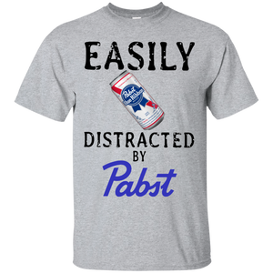 Easily Distracted By Pabst Blue Ribbon T Shirt Hoodie Sweater Mintozy