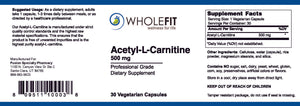 Acetyl-L-Carnitine (500 mg)