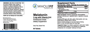 Melatonin (3 mg) with Vitamin B-6