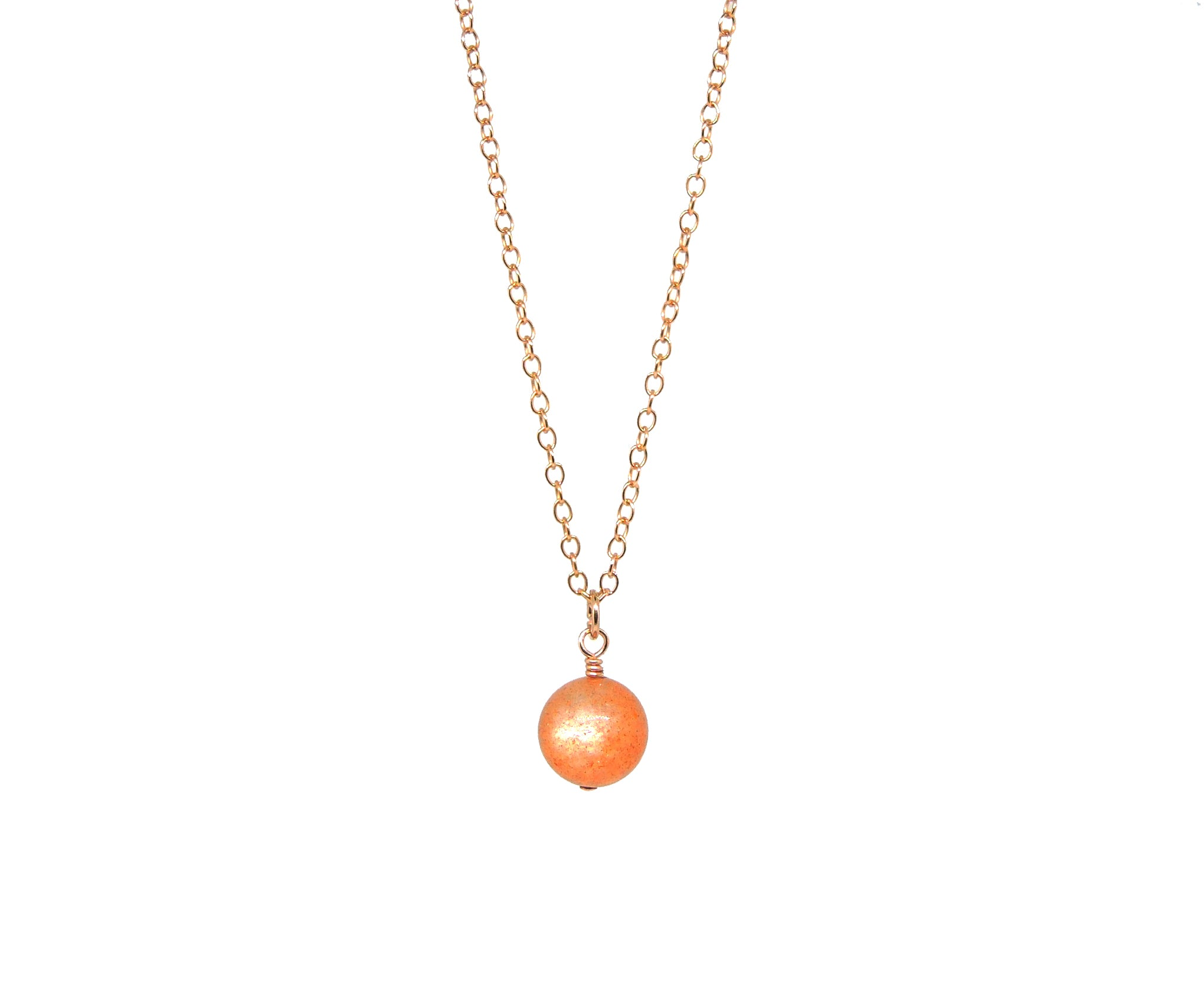 Sun Necklace - Rose Gold-QuazarJewelry