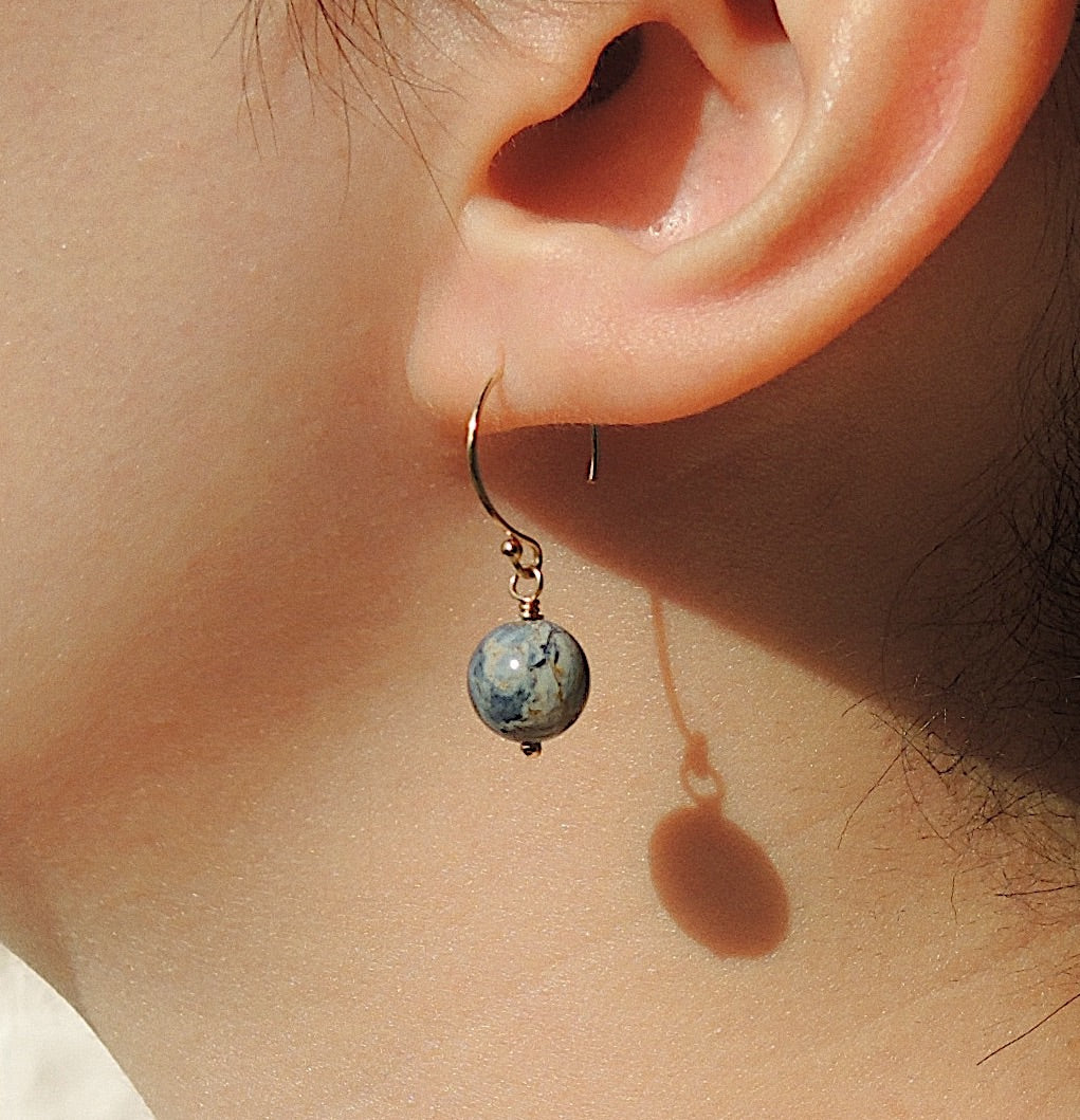 Planet Earth Hooks-QuazarJewelry