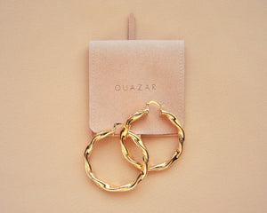 Twist Hoops-QuazarJewelry