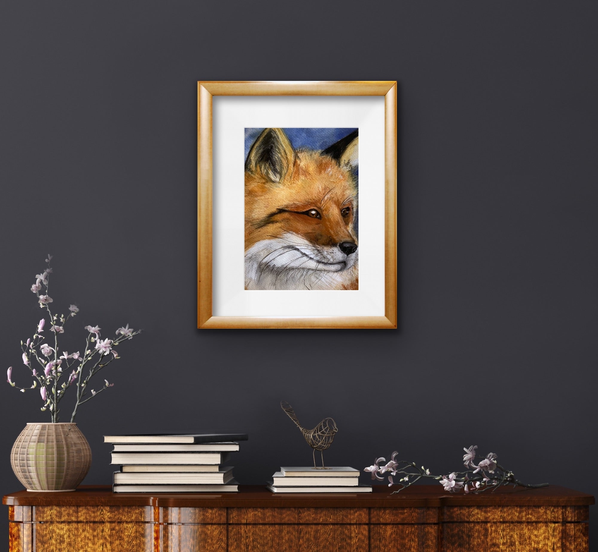 Mr Fox Glossy A4 Art Print