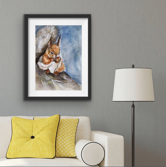 Squirrel High Gloss A4 Print