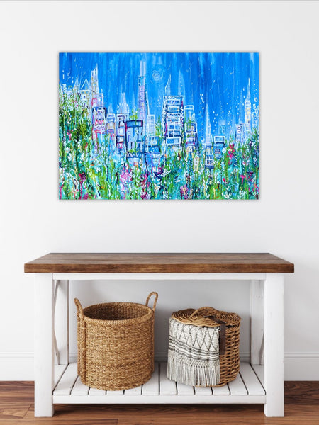 Summers In The City Hand Finished Fine Art Print 1/50