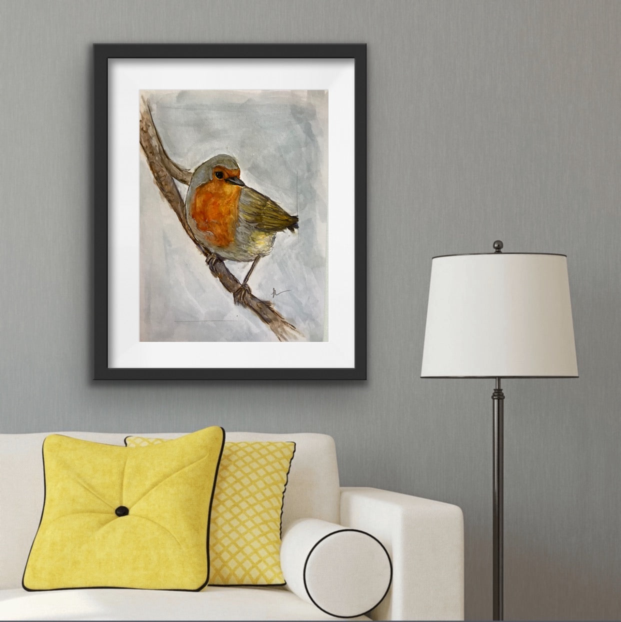 Robin Red Breast A4 Glossy Print