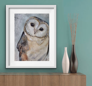 Barn Owl High Gloss A4 Print