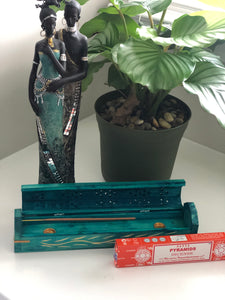 Wooden Incense Box (teal)
