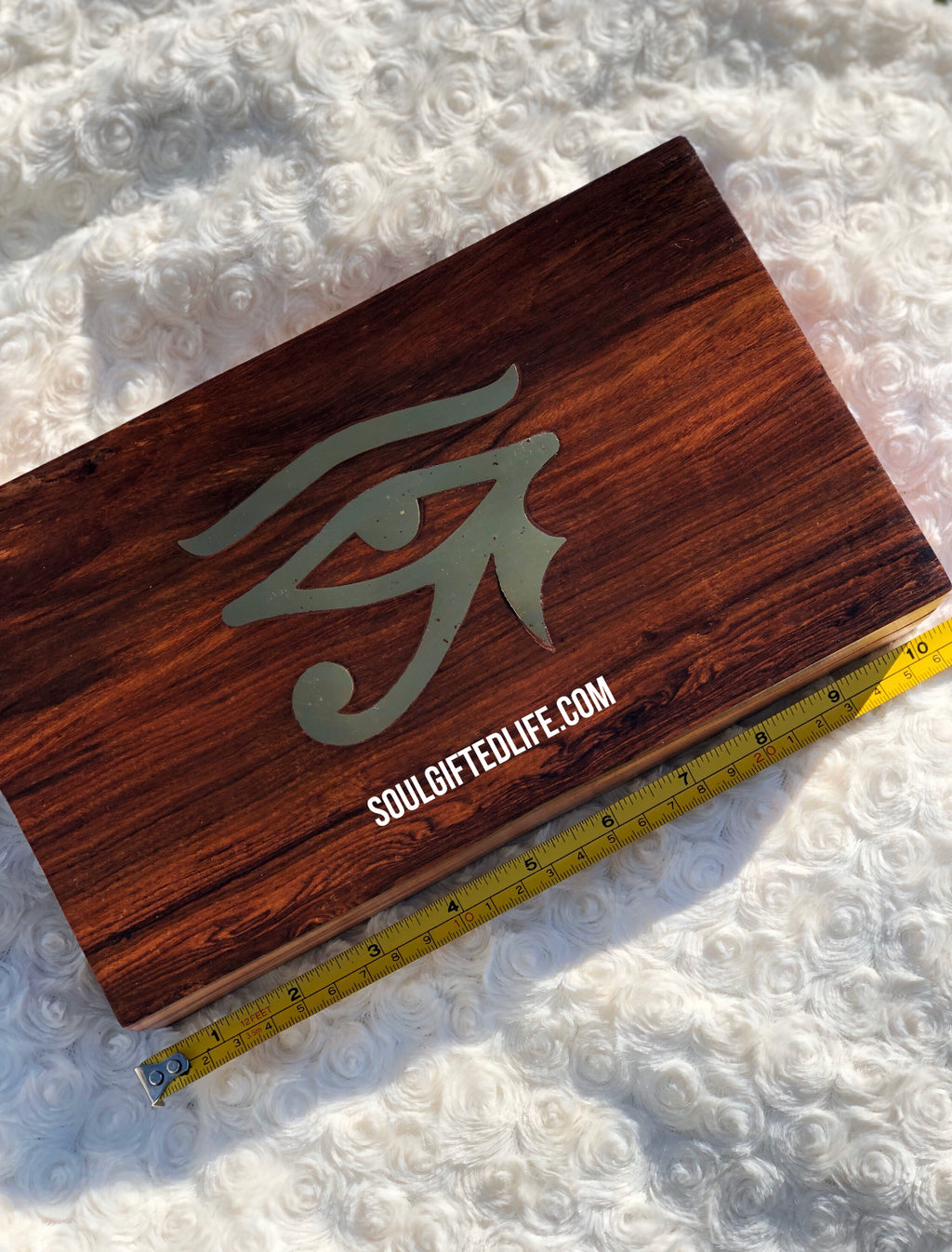 Wooden Eye of Horus Box (Large)