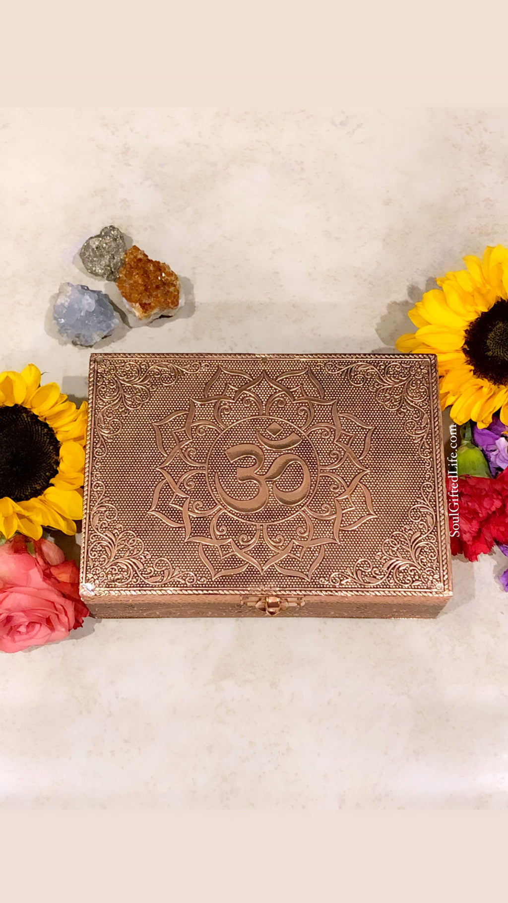 "Rose Gold ""Om"" Box"