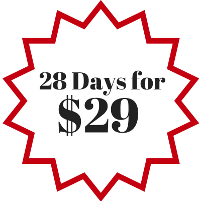 28 Days for $29 - New Member Trial
