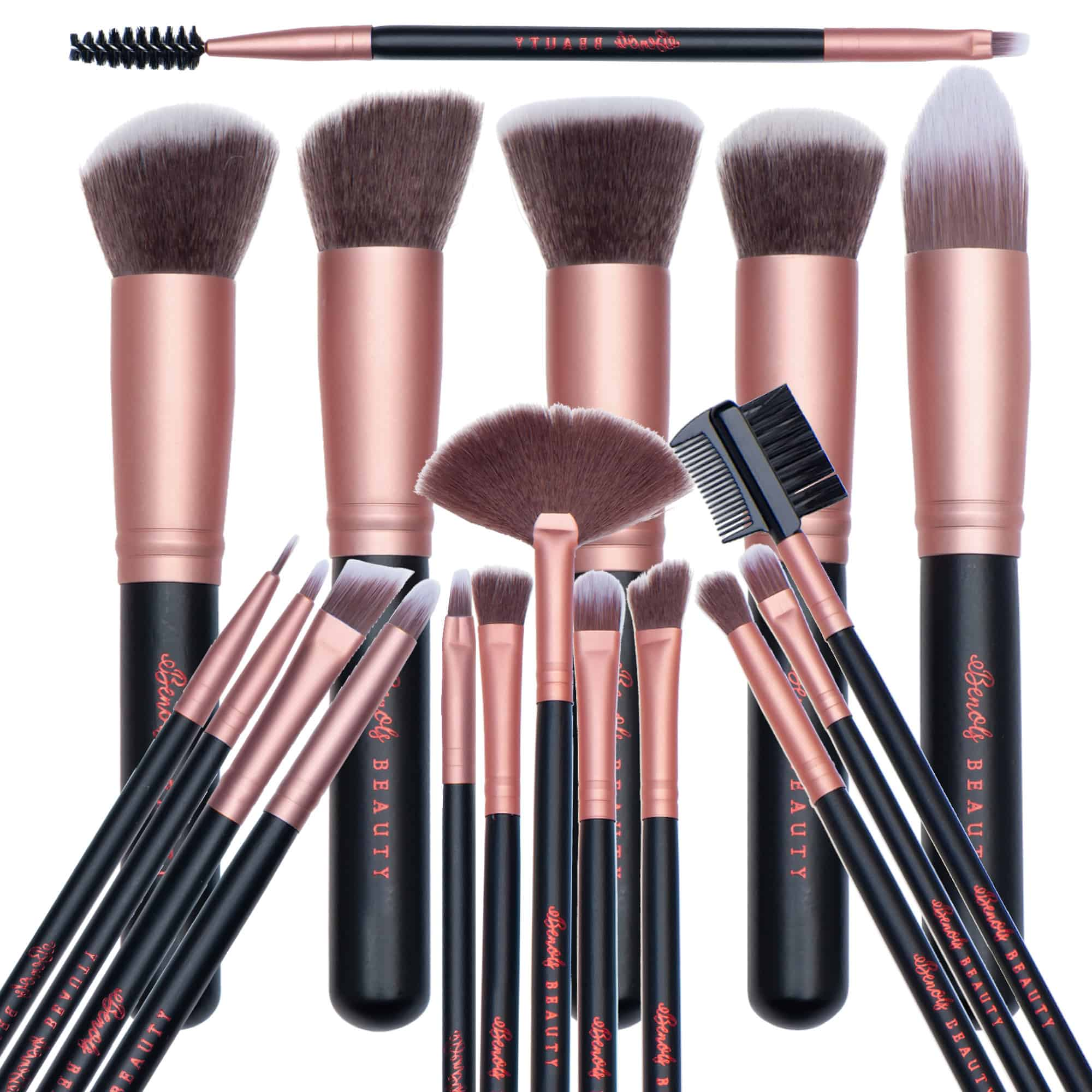 18PCS Kabuki Makeup Brushes Set - Benols Beauty