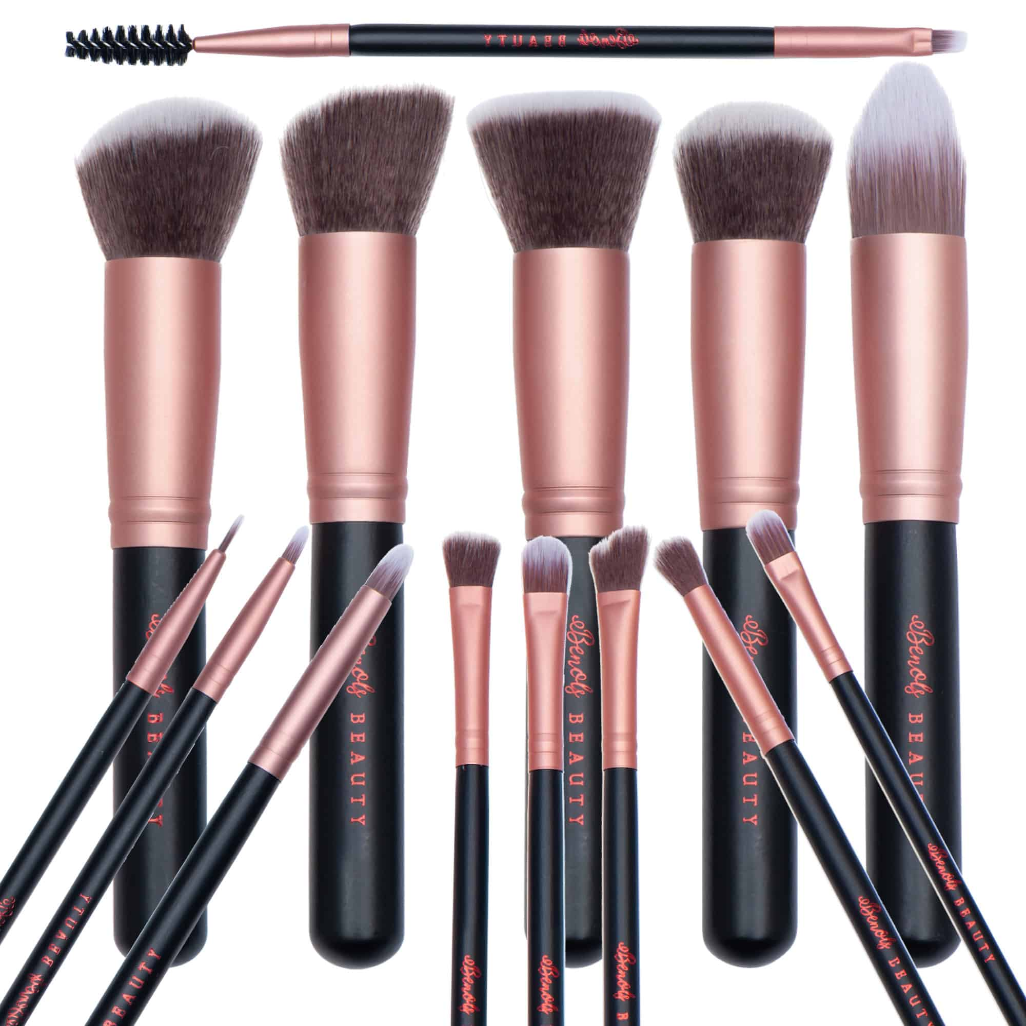 Benols Beauty™ 14pcs Kabuki Professional Makeup Brush Set - Benols Beauty