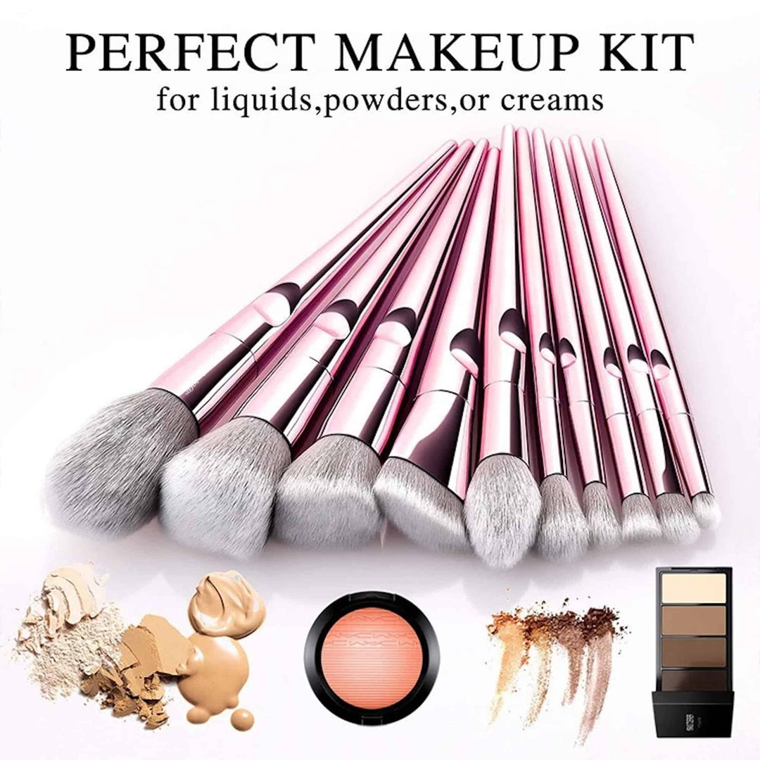 Benols Beauty™ 10pcs Crystal Makeup Brushes Set - Benols Beauty