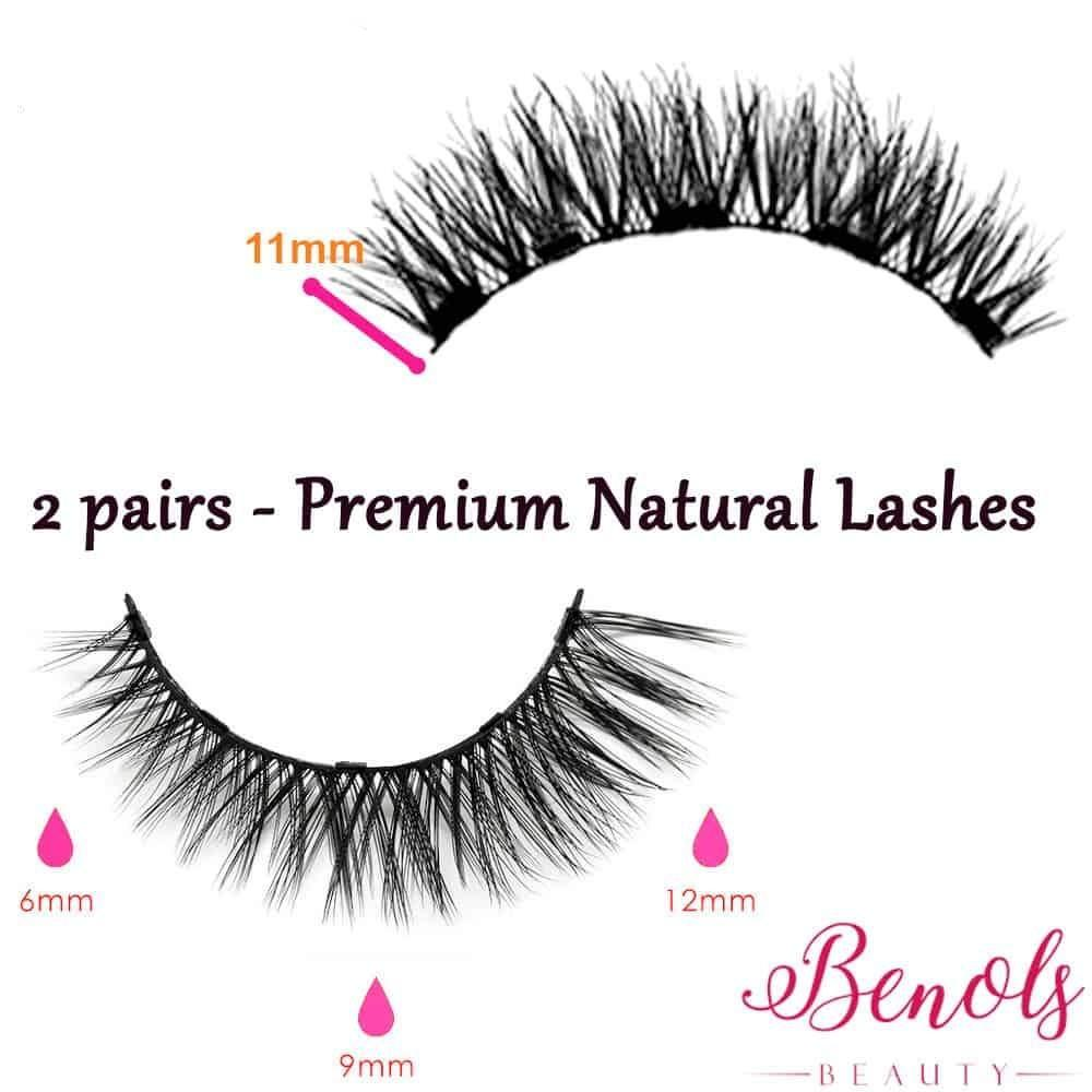 Classic Natural Look Magnetic Eyeliner with Magnetic Eyelash - Benols Beauty