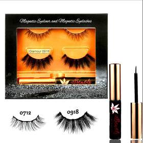 Glamour 3D Natural Look 5 Magnets Mink Lashes with Magnetic Eyeliner