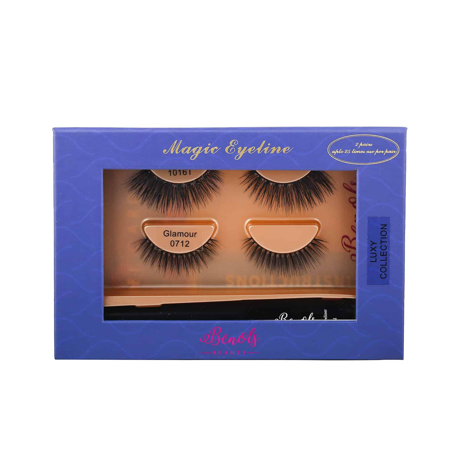 2 Pair 3D Mink Lashes with Extra Bond Magic Eyeliner (LUXY COLLECTION) - Benols Beauty