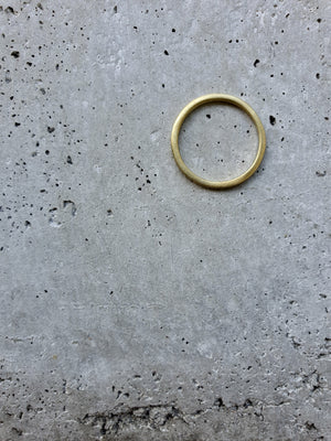 AYU thin BRASS matt Ring Gold - The Santai Collection