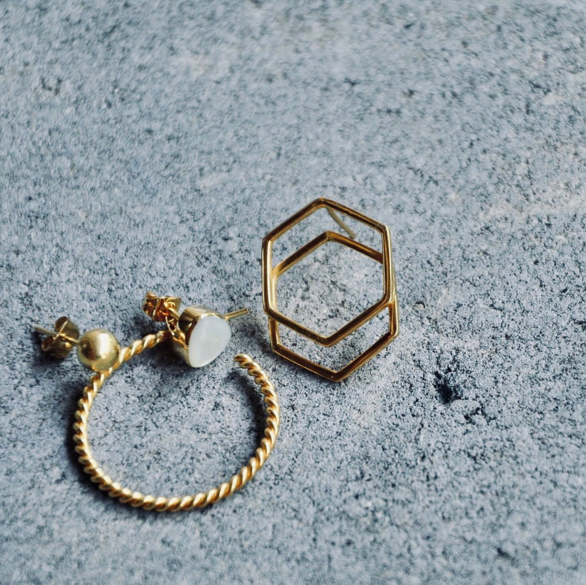 DANI matt Ohrring | Earring Gold - The Santai Collection