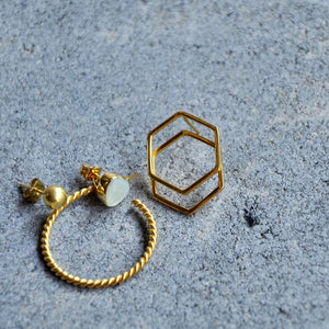 ARYA Perlmutt Ohrring | Earring Gold - The Santai Collection